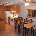 Large fully equipped kitchen with dishwasher plus, new mountain style dining room