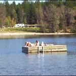 Fantastic private swimming platform